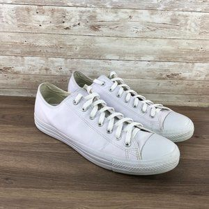 Converse All Star Low Top Mens 13 White Leather